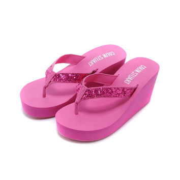 Trendsetter Victoria's Secret Women Platform Fashion Sandal Slipper Shoes