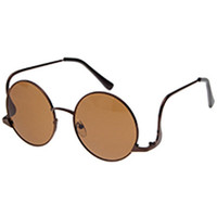 Brown Radian Exaggerated Frame Cool Glasses