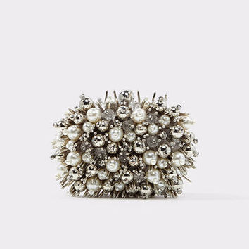 Listolade Silver Women's Clutches | ALDO US