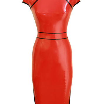 Bespoke Shop | Shop Atsuko Kudo Latex Restricted Cheongsam w/ Belt