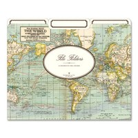 Cavallini File Folders World Map, 12 Heavyweight File Folders per Set, Images from the Cavallini archives. By Cavallini Co - Walmart.com