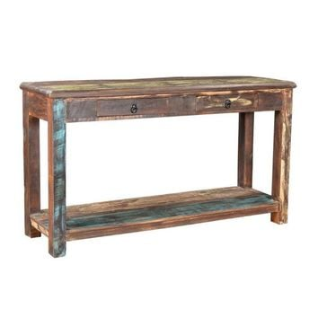 Timbergirl Multicolor Recycled Wood TV Stand | Overstock.com Shopping - The Best Deals on Coffee, Sofa & End Tables