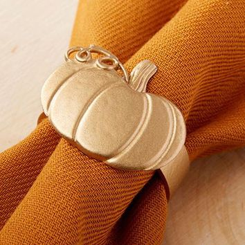Pumpkin Napkin Ring (Set Of 4)