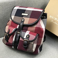 Burberry New fashion colorful plaid backpack bag women