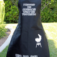 Father's Day, Apron, BBQ Apron, Dad, BBQ, Grilling, Men's Apron