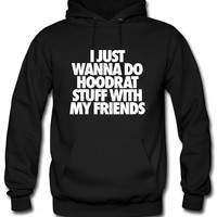 I Just Wanna Do Hoodrat Stuff With My Friends Hoodie