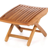 Foldable Footrest Weatherproof Contemporary Patio Furniture Dual Stain Finish