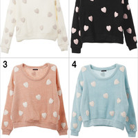 Spring models the ladies INGNI foreign trade of the original single Japanese peach heart sweater 3 colors - Taobao