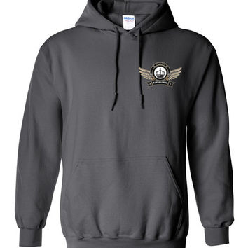 Alpha Guns & Wings Small Chest Hoodie (Up to 5xl)