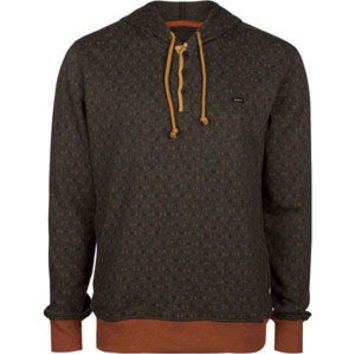 Rvca Magia Mens Henley Hoodie Charcoal  In Sizes