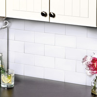 Subway Tile Backsplash  3 x 6 Set of 25 Kitchen Bathroom Tiles Easy Clean White Black Bronze