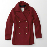 Womens Classic Wool Peacoat | Womens Clearance | Abercrombie.com