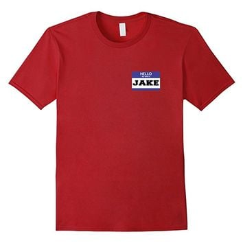 Jake Blue Name Tag Halloween Costume Tshirt- Men Women Youth