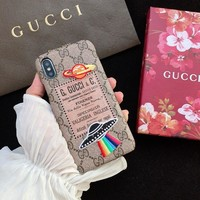 UFO GUCCI Leather Fashion Cover Case for iPhone