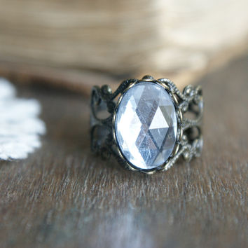 Crystal Amulet Ring