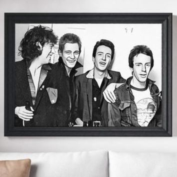 The Clash Poster Art Painting Print Canvas Print