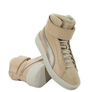 Puma 364952 01 Women Basket Platform Mid Up Wns Natural Vachetta