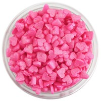 Pink Shimmer Tiny Heart Sprinkles