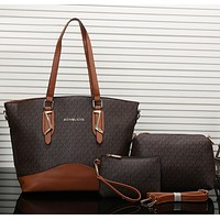 MK Women Leather Tote Satchel Crossbody Handbag Wallet Three Piece Suit