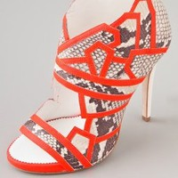 ONE by High Heel Embosed Bootie with Neon Piping | SHOPBOP