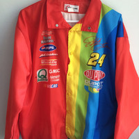 vintage jeff gordon / dupont racing NASCAR jacket