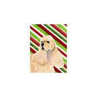 Caroline's Treasures Cocker Spaniel Candy Cane Holiday Christmas House Flag