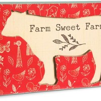 Farm sweet farm Plaque