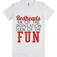 Redheads Are More Fun-Female White T-Shirt