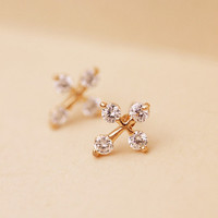 Cross with CZ Earrings 061025 from psiloveyoumoreboutique