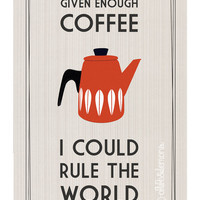 Retro Coffee Quote Poster by oflifeandlemons on Etsy
