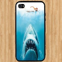 Jaws iPhone Case - Rubber Silicone iPhone 4 Case and iPhone 4S Case