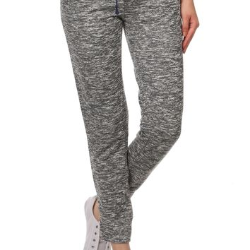 Heather Drawstring Terry Lounge Long Joggers