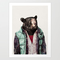 Black bear Art Print by Animal Crew