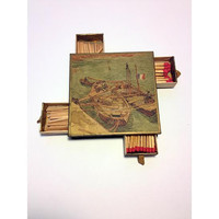Matchbox Drawer featuring Vincent Van Gogh, Vintage Match Box, Boat Art, Smoking Accessories, Large Match Boxes, Cigarette Lighter