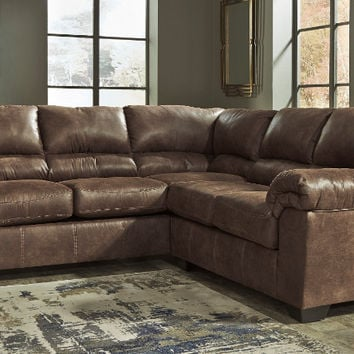 Ashley Furniture 12000-56-66 2 pc Bladen coffee fabric sectional sofa set with rounded arms