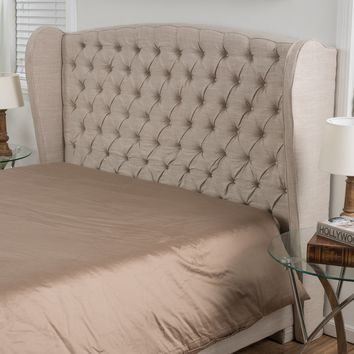 Denise Austin Home Lille King/ California King Tufted Fabric Wingback Headboard