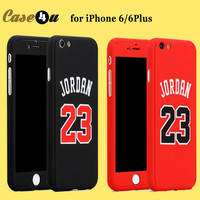 For iPhone 6s Basketball Player Hard Phone Case Jordan Kobe Bryant Curry 360 Full Body Case Cover for iPhone 7 6 plus Capinhas