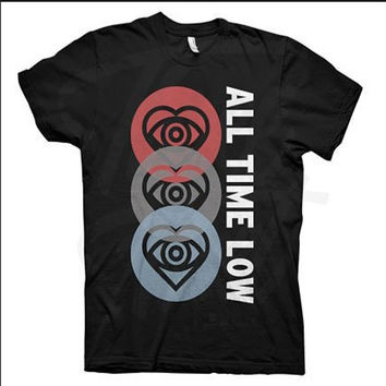 all time low 3 hearts T shirts