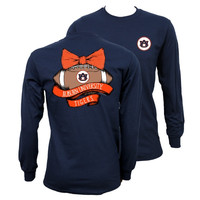 Southern Couture Auburn War Eagle Vintage Football Long Sleeve T-Shirt
