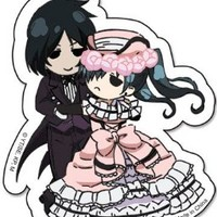 Black Butler Sebastian & Ciel Dance Sticker
