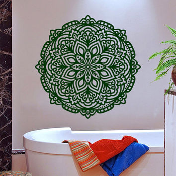 Mandala Wall Decal Ethnic Sunshine Lotus Stickers Vinyl Decals Flower Art Mural Home Decor Interior Design Bedroom Bohemian Decor KI46