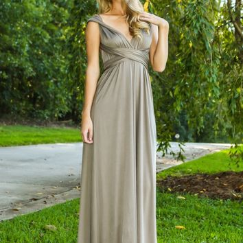 I Don't Do Dishes Maxi Dress-Mocha