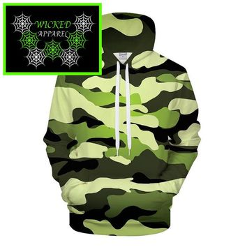 Wicked Apparel Camo Hoodie #101