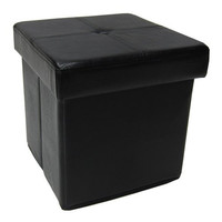 Instant Ottoman Folding Storage, Espresso Color, Square [Kitchen]