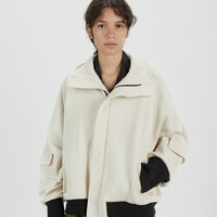 Oversized Cotton Blouson Jacket by Nocturne #22- La Garçonne