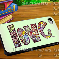 Tribal Love For iphone 4 iphone 5 samsung galaxy s4 / s3 / s2 Case Or Cover Phone.