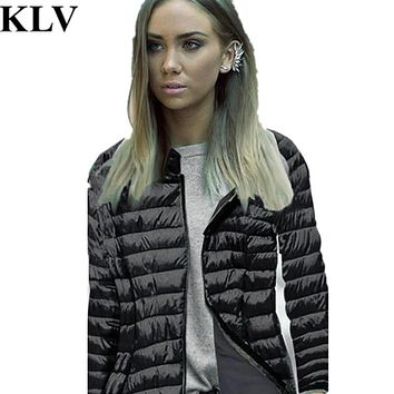 Long Sleeve Winter Hooded Coat Zipper Coat Women Down Cotton Jacket Fashion Coat Solid Color Warm Quilted Overcoat No4