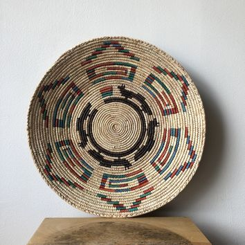"Natural & Black African Basket 13"" - 15"""