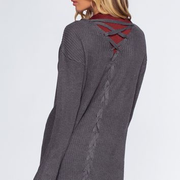 Brigitte Cardigan - Heather Gray