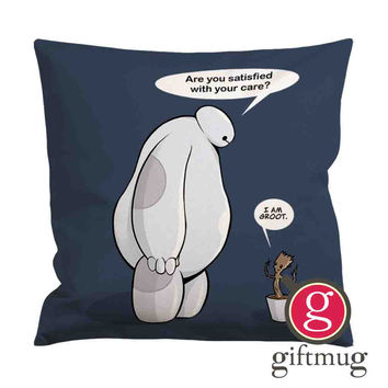 Funny baymax care groot Cushion Case / Pillow Case